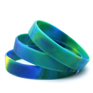 Braccialetto su ordinazione poco costoso all'ingrosso del Wristband di marchio di stampa dell'elastico del silicone di sport di modo del silicone per il regalo promozionale