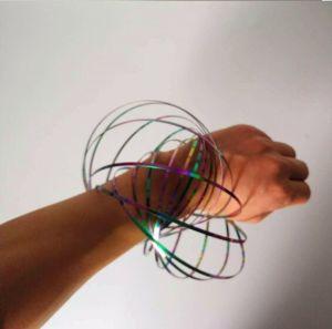 2018 de Hete Ring van de Stroom van de Lente van het Roestvrij staal van de Verkoop Multi Sensorische Interactieve Magische voor Stuk speelgoed