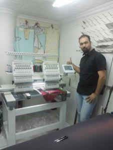 Holiaumaの高速は2つのヘッドBarudanの刺繍機械を密集させる