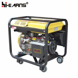 3kw de Macht Genset van de dieselmotor met Vier Wielen wordt geplaatst (DG3000E die)