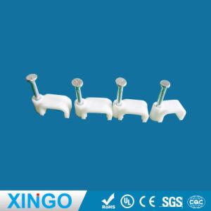 Rund/Kreis/flache/quadratische Kabelklemmen/Nagel-Klipps/Nagel-Halter