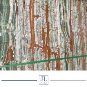 背景の築壁のオニックス大理石の価格のための半透明なタケ緑のオニックス