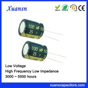Condensadores electrolíticos de aluminio de 100UF 25V 5000horas