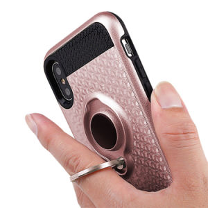 KickstandのiPhone Xのケースのための1つのリングのホールダーの電話カバーに付き2018年の工場価格2つ