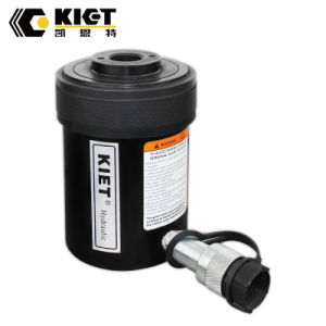 Kiet émbolo hueco simple cilindro hidráulico de aluminio