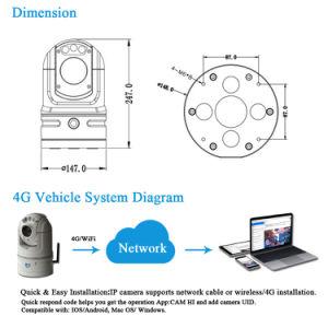 1080P 4G WiFi 안전 통신망 CCTV PTZ 차량 IP 사진기