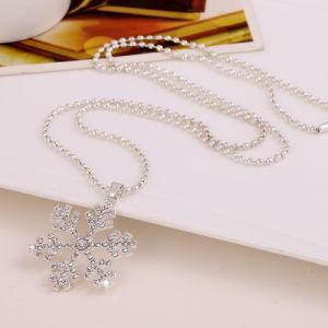 Collana del maglione dell'oro dell'argento del fiore della neve per la decorazione del regalo di natale