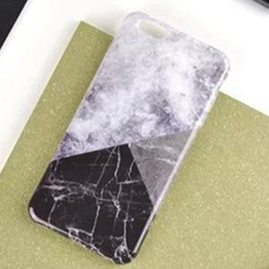 Couleurs géométriques créatrices appariant la caisse de marbre de téléphone pour l'iPhone 7/6s/6