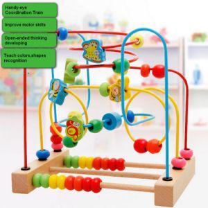 As crianças de madeira Cordão de Educação Matemática Xylophone Contagem de Blocos de empilhamento de música Toy