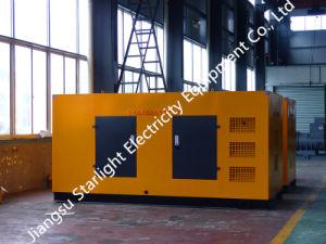 300kw 375kVA Groupe électrogène Diesel Perkins résistant aux intempéries Groupe électrogène silencieux standard ISO 8528