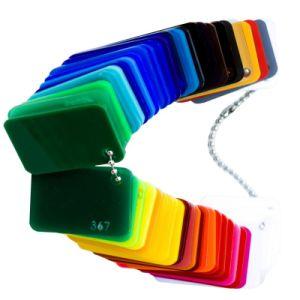Lightboxのための赤くおよび黄色くおよびピンクおよび緑の鋳造物のアクリルシート