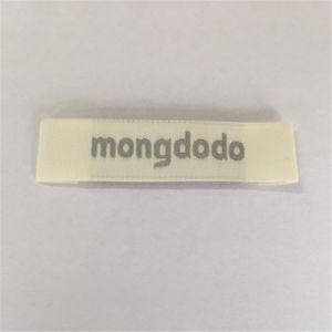 Custom 50d de alta densidad de prendas de vestir de marca etiqueta etiqueta tejida
