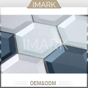 Le mattonelle di mosaico di vetro di esagono per la parete della pavimentazione coprono di tegoli il materiale da costruzione