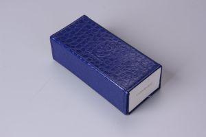 Verpakking van het Geval Sunglass van het Leer van Faux van de Douane van Sinicline de Vouwbare Blauwe
