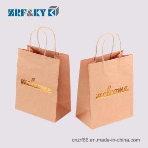 Переработанных дамы перевозчика Белый/Коричневый/черный и зеленый/Art/Крафт/бумага с покрытием Bag сумка для магазинов одежды/одежды/подарка