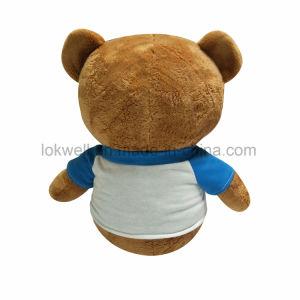 PromotieGift van het Stuk speelgoed van de Teddybeer van het Embleem van de douane de Zachte Pluche Gevulde