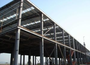 Estructura de acero montado fácil edificio con aislamiento térmico.