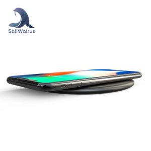 Comercio al por mayor durabilidad ronda inteligente de carga rápida de telefonía móvil inalámbrica Qi Pad para cargador de iPhone