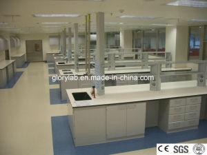 Mobilia d'acciaio del laboratorio con la certificazione fissata al muro del Ce e del Governo