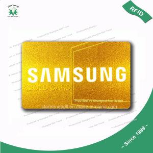 Carte cadeau VIP en plastique de la carte de fidélité Carte PVC avec écran de soie Timbre Or/hot stamping or or/laser