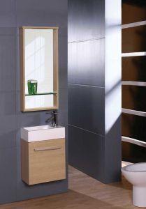 Klassische einzelne preiswerte MDF-Badezimmer-Eitelkeit mit Spiegel