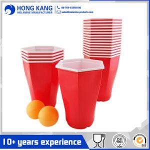 El plástico Beer Pong parte de la Copa solo con la pelota de Ping Pong