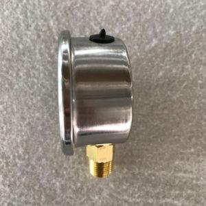 Ficha do TNP de latão cheios de líquido medidor de vácuo de pressão