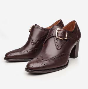 Venta caliente zapatos de cuero Calfskin OEM botas para mujer