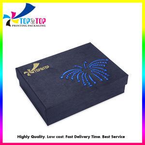 Coperchio unico di disegno ed estetica della casella bassa/casella impaccante di carta del profumo/regalo/regalo dei monili con ricamo