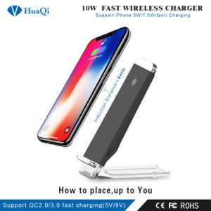 iPhoneかSamsungまたはNokiaまたはMotorolaまたはソニーまたはHuawei/Xiaomi (CE/FCC/RoHS)のための10W立場のチーの速い無線移動式充電器