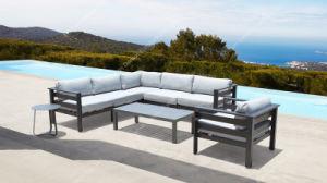 Foshan fábrica de muebles de jardín de aluminio exterior Sofá en forma de L para uso doméstico