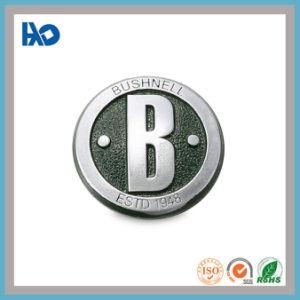 La Máxima Calidad Plata personalizado el logotipo de elevación de la placa de la etiqueta de metal