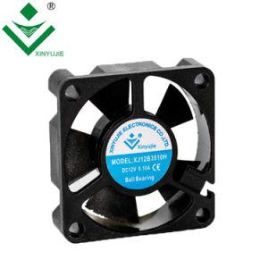 12V de 3510 a 10000 rpm el rodamiento de bolas de 30000 horas de garantía Larga vida útil Mini Ventilador Axial de CC