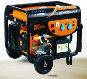 Utilização inicial 6.0kw Gerador Gasolina Gasolina com pega & RODAS