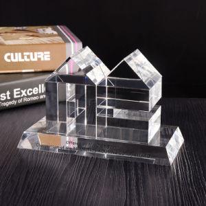 3D Ambacht van de Kubus van de Gravure van de Laser van het Kristal voor de Decoratie van het Glas van de Herinnering