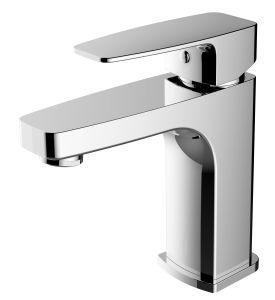 2018 El cuarto de baño de lavado con agua fría grifo Ducha Mango único baño de la placa de latón cromado de la cuenca del mezclador mezclador de lavabo grifo Cascada