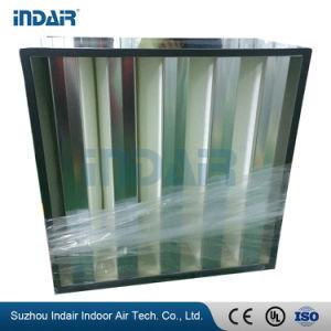 Filtro galvanizzato dalla V-Banca HEPA del blocco per grafici d'acciaio H14