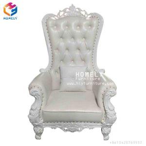 優雅なカシ木金または白いですか銀製Queen Child Kid Childrenカラーフレームの結婚式の家具王の椅子