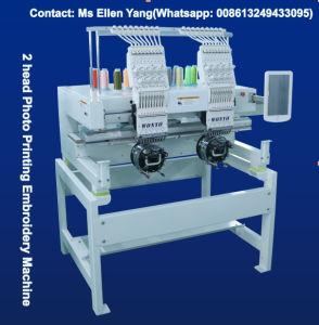 Macchina commerciale automatizzata del ricamo delle 2 teste per la protezione/maglietta/tubolare/pattini/Sequin/ricamo Cording