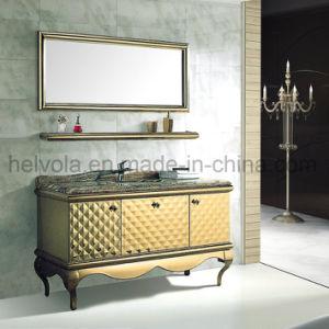 Gesundheitlicher Ware-Badezimmer-Bassin-Zubehör-Schrank-Badezimmer-Möbel-festes Holz Kurbelgehäuse-BelüftungMDF mit Spiegel-Edelstahl-Badezimmer-Eitelkeit 41