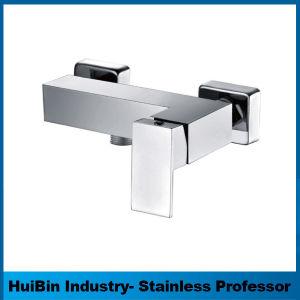 中二階デザインSingle-Leverブラシをかけられた真鍮の正方形の浴室の洗面台の水栓