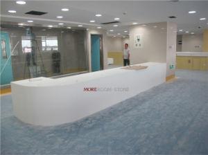 최신 판매에 의하여 설계되는 돌 12mm 6mm 순수한 백색 Corian 아크릴 단단한 지상 싱크대