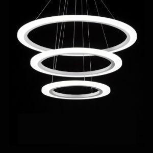 Restaurante moderno nórdicos lustres anel redondo luz pendente de LED