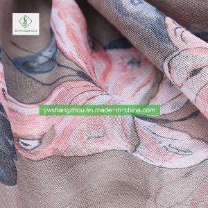 2018最も新しいレトロのMoslem Scarf蝶によって印刷されるショールの方法女性