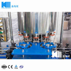 Automatischer linearer Typ kann Getränkewaschende füllende mit einer Kappe bedeckende Maschinen-Zeile