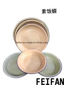 Hot la vente et de meilleure qualité de l'émail de la plaque de riz/assiette à soupe/Bac d'aliments
