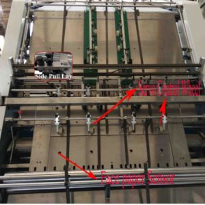 Macchina di laminazione ondulata scanalatura automatica ad alta velocità per il contenitore di scatola (QTM1300)