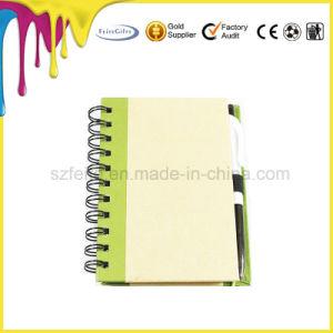 Reciclável Notebook em espiral com caneta de papel ecológico