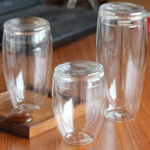 Bottiglie di vetro della tazza delle tazze di caffè dei Promozionale-Regali con il coperchio di bambù del coperchio