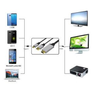 UHD HDMIケーブルへの6.5FT Mhl 4K USBのタイプC